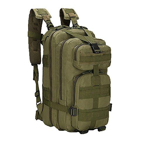 Tangbasi unisex 30l zaino militare camouflage zaino per escursioni campeggio, unisex, army green
