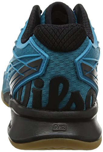 Wilson Rush Evo Carpet Wh/Pearl Blue/Ny 6.5, Chaussures de Tennis Homme Bleu (Enamel Blue/black/safety Yellow)