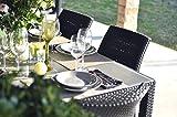 Keter Toscana Rattan Outdoor Patio Garden Furniture Dining Chair set -  Graphite