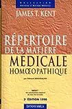 Répertoire de la matière médicale homéopathique