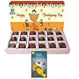 BOGATCHI ThanksGiving Gifts, Thanks Giving Chocolates, Premium Chocolate Candy Box, 18 pieces, FREE Thanks Giving Greeting Card