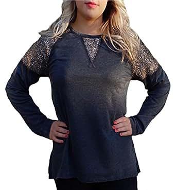 Topsanddresses maglia a manica lunga asimmetrico for Amazon offerte abbigliamento