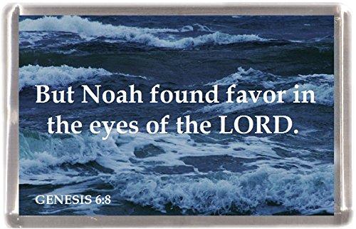 (NOAH gefunden für Genesis 6: 8machen 12Stück Kühlschrank Magnete 12Geschenk Souvenir Kühlschrank Magnete)