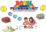 #3: KABEER ART DIY Play Sand Kit for Kids (Kinetic Sand 3 colors + assorted molders)