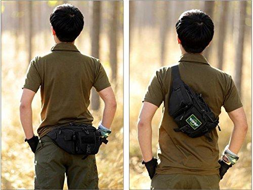 Zll/Outdoor Groß der Tasche Crossbody Taschen Riding Ihren Pocket Wandern, Casual Brust Taschen Mann Tasche Fashion Handtaschen Schwarz