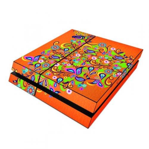Preisvergleich Produktbild Skins4u Playstation 4 PS4 Skin Design Folie Sticker Set - Orange Squirt