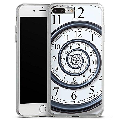 Apple iPhone 8 Slim Case Silikon Hülle Schutzhülle Zeit Uhr Leben Silikon Slim Case transparent
