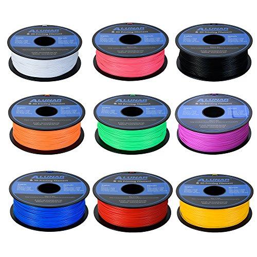 ALUNAR 1.75mm PLA Filament 3D fil pour imprimante 3D – Bobine de 1 kg, Diverses couleurs