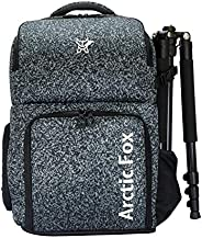 Arctic Fox Camera Bag for Polariod/DSLR Camera with Lens, 15.5 Inch Laptop and Tripod Holder (Black)