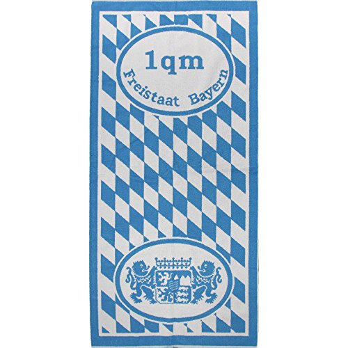 Casa Colori Freistaat Bayern Serie Frottier Handtuch Duschtuch Gästetuch Quadratmeter Tuch Waschhandschuh, Größe:67x150 1qm Bayern