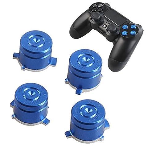 Sony Playstation 4 Dualshock 4 Controller Face Tasten Buttons Joystick Aluminium Metall Kugel Bauteile Ersatzteile Zubehör für PS4 (Bullet