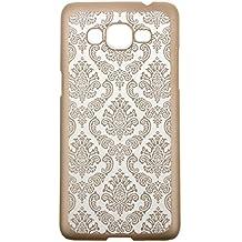 Malloom®Para Samsung Galaxy Grand Prime G530H G5308 Carcasas y fundas vendimia damasco difícil cubierta de la caja (oro)