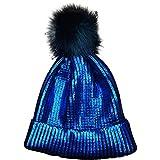JMETRIC DamenBeanie|Strickmütze|Wintermütze|Bommelmütze|Kopfbedeckung|Gestrickt Verdicken Wintermütze Mode Wärme