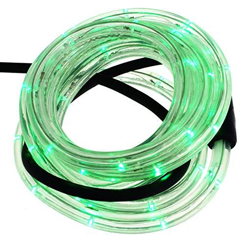 Smartfox LED Lichterschlauch Lichterkette Licht Schlauch 16m für Innen- und Aussenbereich mit 384 LEDs in grün