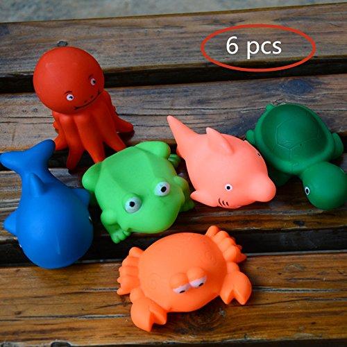 Giocattoli da bagno, Morbuy Giocattoli da Bagno per Bambini a Forma di Animali Squirts Giocattoli per il bagno piccoli animali galleggianti in cricca