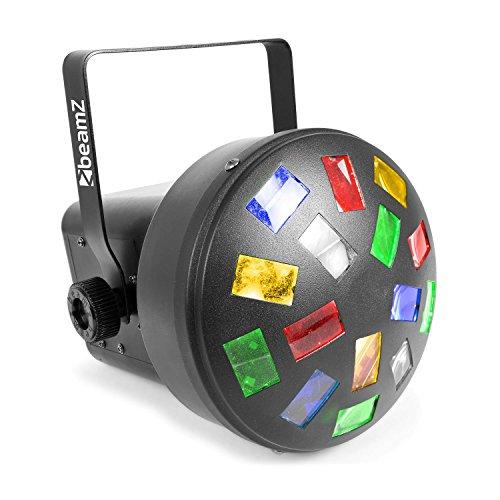 Beamz mini mushroom LED Disco Spotlight Black–stroboscopes & Disco Lights (Disco Spotlight, Black, LED, 6lamp (S), 3W, Amber, Blue,...