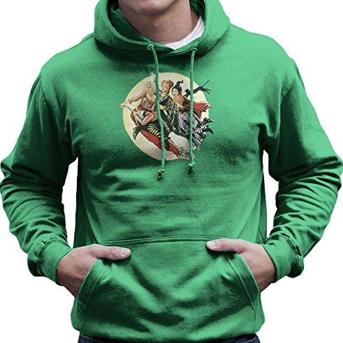 Hocus Pocus Winnifred Sarah Mary Witches Men's Hooded Sweatshirt (Sarah Grün Halloween)