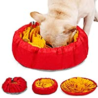 LIVACASA Snuffle Mat for Dogs Washable Pet Feeding Nosework Treats Mat Puzzle Training Toy For Dogs Large Medium Puppies Non Slip Sniffing Games Slow Feeding Bowl for Cats Yellow