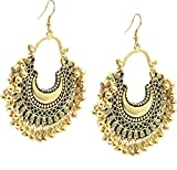 #10: Tiaraz Fashion Stylish Oxidised Afghani Tribal Fancy Party Wear Earrings for Girls and Women