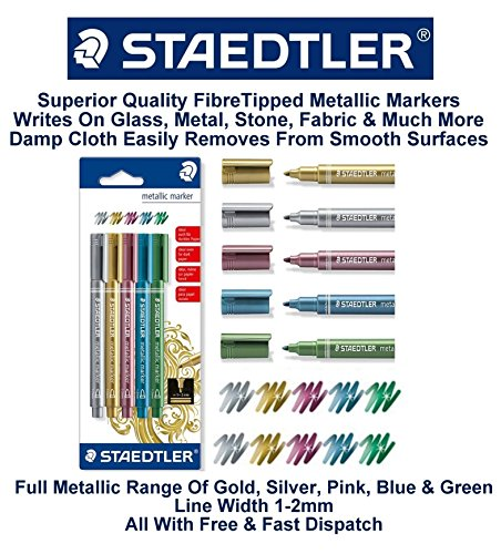 Staedtler-Metallic-Marker-Pens-Writes-On-Glass-Mirror-Plastic-Stone-1-2mm-Craft