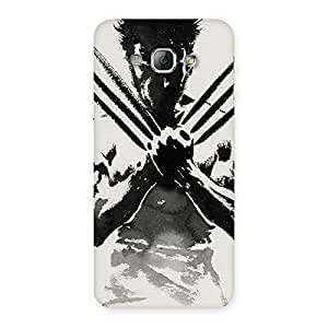 Radiant Ready for Wolf Back Case Cover for Galaxy A8