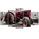Home Decor Hd Print Canvas Painting 5 pieces Wall Art Old Broken Tractor Poster For Living Room Retro Pictures 40X60Cmx2 40X80Cmx2 40X100Cmx1 Unframed