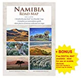 Detailed NAMIBIA ROAD MAP (1:1.160.000), practical A4 booklet, reliable, ideal for planning & travel, with all roads, accommodation & attractions