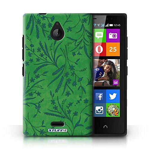 Kobalt® Imprimé Etui / Coque pour Nokia X2 Dual Sim / Vert/Bleu conception / Série Motif floral blé Vert/Bleu