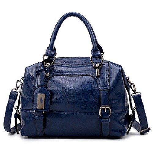 Borsa A Tracolla Messenger Moda Donna Dhfud Blu