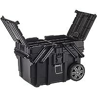 Curver 233743 Carro Horizontal Job Box, Negro, 62.6x35.3x39 cm