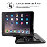 Snugg Étui Clavier iPad Mini 1/2/3, 8482; - Coque Noire avec Clavier AZERTY,...