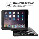 Snugg iPad Mini 1/2 / 3 AZERTY Keyboard Case, [Black] Wireless Bluetooth Keyboard
