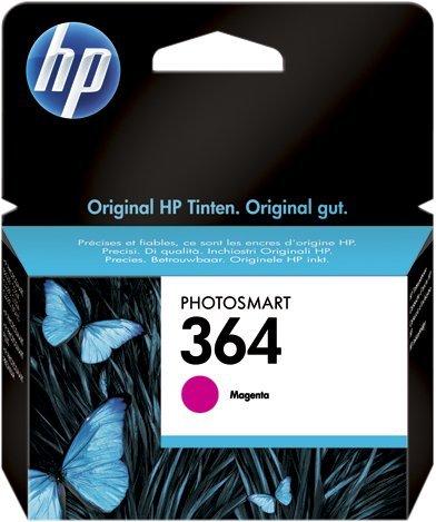 HP 364 - Dye-Based Magenta - Original - Tintenpatrone - für Deskjet 35XX, Photosmart 55XX, 55XX B111, 65XX, 65XX B211, 7510 C311, 7520, eStation C510 65xx-systeme