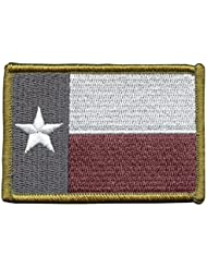 Texas Lone Star State Flag Morale Tactical ISAF Army Embroidery Hook&Loop Patch