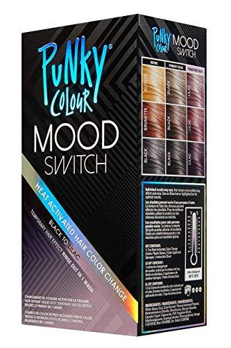 Punky Farbe Stimmung Schalter Hitze aktivierter Haarfarbe ändern, temporärer Haar-Effekt Schwarz Lila (Lila Dip-spaß)