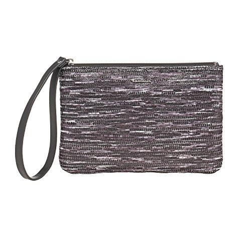 Tamaris KENDRA POUCH Beutel Damen 7908172-292 elegante kleine Handgelenktasche Abendtasche in Graphite Comb