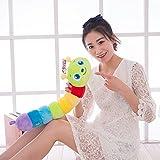 yookoon Colorful Raupe Plüsch Spielzeug groß bunt Caterpillar Puppe Schlaf Kissen Tiere Spielzeug (55,1cm -31.5