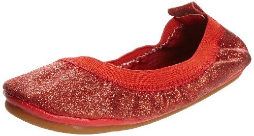Yosi Samra Mary Jane Mädchen US 2 Rot Mary (Glitter Mary Jane Rot Schuhe)