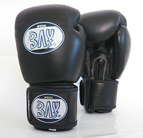"BAY® ""F-one"" PROFI Boxhandschuhe schwarz, 10 Unzen, ECHTES RINDERLEDER Box-Handschuhe, Boxhandschuh Boxing Glover, Leder, UZ OZ, Damen Herren KINDER KIDS Muay Thai Thaiboxen Boxen Kickboxen MMA K-1"