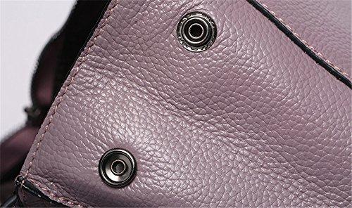 XinMaoYuan Autunno e Inverno Moda in Pelle di litchi Pattern Vacchetta Borsette di Stile coreano zaino borsa a tracolla di colore solido sezione verticale,rosso Grigio