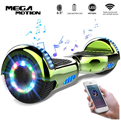 "Mega Motion Self Balance Scooter 6,5\""-2018 Elektro Scooter E-Skateboard - Scooter -UL zertifizierten 2272 LED - Räder mit LED Licht -Bluetooth Lautsprecher - 700W Motor"