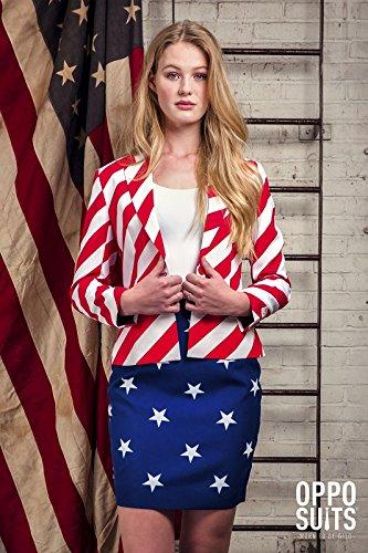 Miss USA Amerika Damen Kostüm Opposuit Slimline 2-teilig (Hollywood Usa Kostüme)