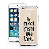 iPhone 6S Hülle von licaso® für das Apple iPhone 6 & 6S aus TPU Silikon Pizza Pasta and Vino Wein Italien Muster ultra-dünn schützt Dein iPhone & ist stylisch Schutzhülle Bumper Geschenk (iPhone 6 6S, Pizza Pasta Vino)