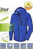 CrivitOutdoor® Herren Trekkingjacke - leicht & funktional (Blau, 48)
