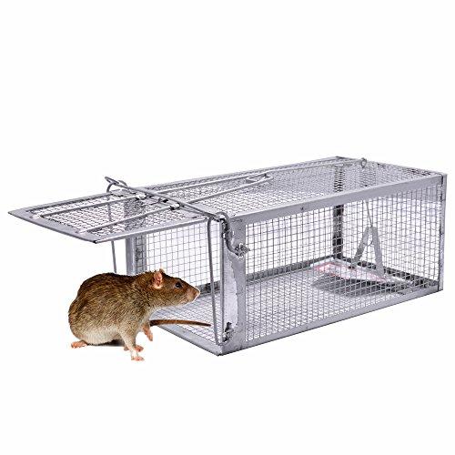 Pronghorn Jaula Trampa para Ratones Ratas Topos roedores topillos campañoles Animales Ardillas marmotas Vivos Exterior (26X14X12CM)