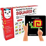 Play Panda New Magnetic Puzzles Squares With 250 Colorful Magnets, 100 Puzzle book, Magnetic Board and Display Stand