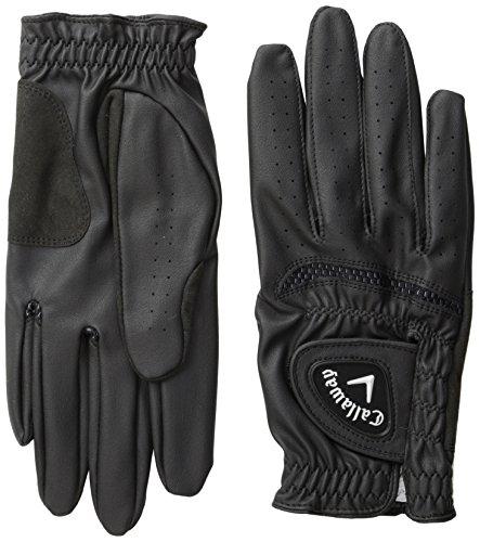 Callaway Herren Opti Grip Golf Handschuhe (2Stück), Herren, 5313391, Schwarz, Large -