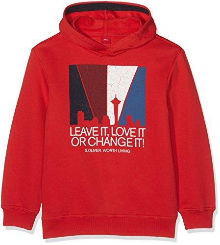 s.Oliver Jungen Sweatshirt 61.709.41.5257, Rot (Red 3118), 164 (Herstellergröße: L/REG) (Pullover Boys L/s)