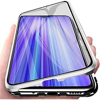 NUONA pour XiaoMi RedMi Note 8 Pro Coque,/él/égant Plating Mirror Case Transparente Clear View Coque t/él/éphone Standing Flip Antichoc /Étui Housse Cover pour XiaoMi RedMi Note 8 Pro-Or Rose