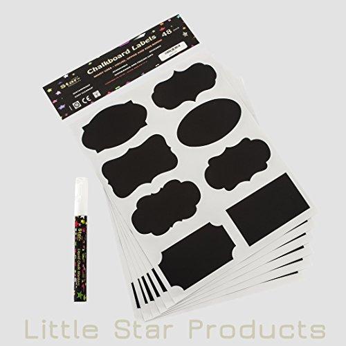pizarra-etiquetas-kit-pizarra-de-tiza-48-etiquetas-y-rotulador-de-tiza-liquida-color-blanco-3-mm-por